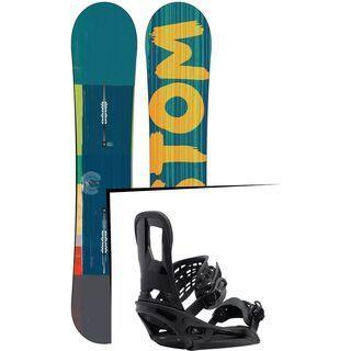 Set: Burton Custom Flying V Wide 2015 + Burton Cartel EST 2017, black - Snowboardset