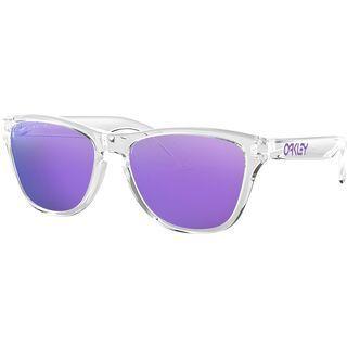 Oakley Frogskins XS, polished clear/Lens: violet iridium - Sonnenbrille