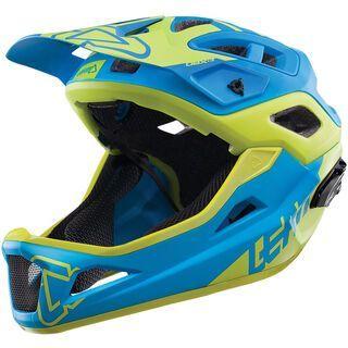 Leatt Helmet DBX 3.0 Enduro V2, blue/lime - Fahrradhelm