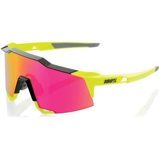 100% Speedcraft Tall inkl. WS, black/fluo yellow/Lens: purple ml mir - Sportbrille