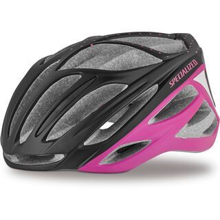 Specialized Women's Aspire, black/acid pink dots - Fahrradhelm