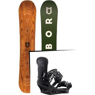 Set: Arbor Formula Premium 2017 + Burton Malavita 2017, black - Snowboardset