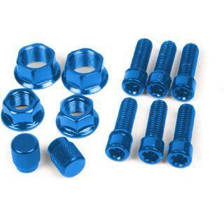 Salt Schrauben und Muttern Set, blau