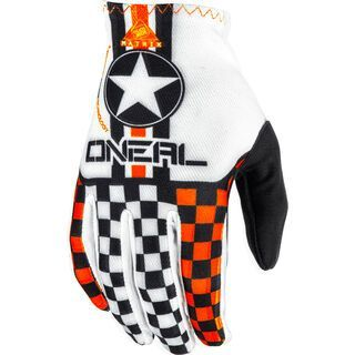ONeal Matrix Kids Gloves Wingman, white/orange - Fahrradhandschuhe