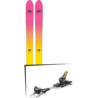Set: DPS Skis Yvette 112 RP2 Foundation 2018 + Fritschi Diamir Freeride Pro schwarz-olive