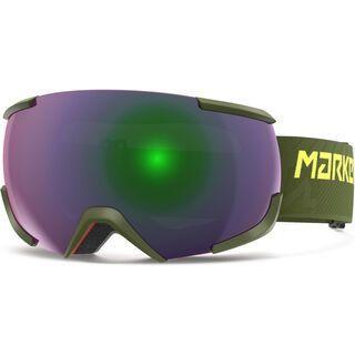 Marker 16:10+ MAP inkl. Wechselscheibe, oliv/Lens: green plasma mirror - Skibrille