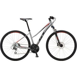 GT Transeo Elite Step Thru 2018, silver/black/red - Fitnessbike