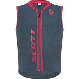 Scott Actifit Plus Vest Junior, nightfall blue/ruby red - Protektorenweste