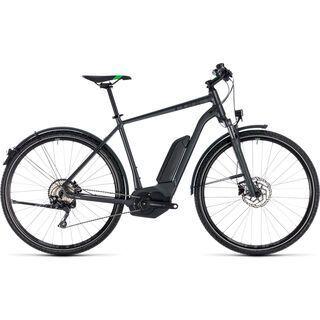 Cube *** 2. Wahl *** Cross Hybrid Pro Allroad 500 2018 | Größe 62 cm, grey´n´flashgreen - E-Bike