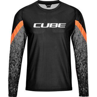 Cube Edge Rundhalstrikot langarm black´n´orange