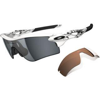 Oakley Radarlock Path, Matte White/Grey Polarized & VR28 Black Iridium - Sportbrille