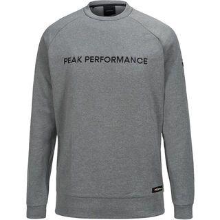 Peak Performance Goldeck Crew, grey melange - Pullover