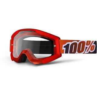 100% Strata, fire red/Lens: clear - MX Brille