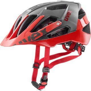 uvex quatro, grey red - Fahrradhelm