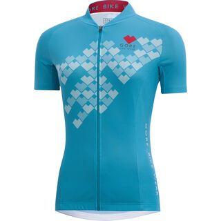 Gore Bike Wear E Lady Digi Heart Trikot, scuba blue - Radtrikot