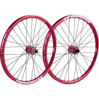 Spank Spoon 32 Wheelset 26, red - Laufradsatz