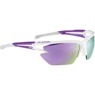 Alpina Eye-5 HR S, white purple/Lens: ceramic purple mirror - Sportbrille