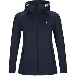 Peak Performance W Rider Zip Hood, blue shadow - Fleecejacke