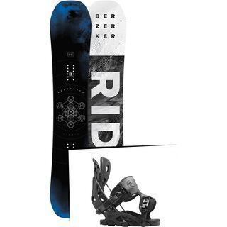 Set: Ride Berzerker 2017 + Flow Fuse 2016, black - Snowboardset