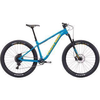 Kona Big Honzo DL 2019, cyan w/ yellow - Mountainbike