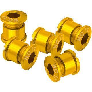 NC-17 Kettenblattschraube 4/5 Loch, gold