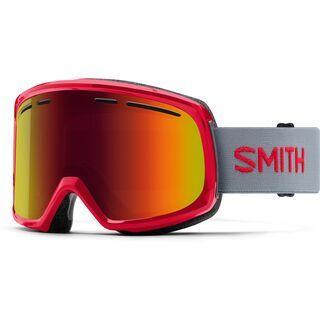 Smith Range, fire/Lens: red sol-x mirror - Skibrille