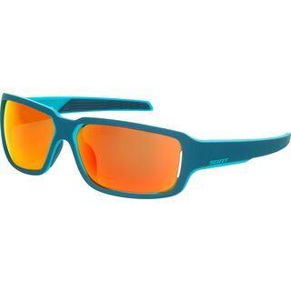 Scott Obsess ACS Sunglasses, blue matt/Lens: red chrome - Sonnenbrille
