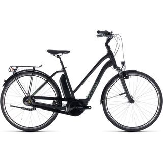 Cube Town Hybrid ONE 400 Trapeze 2018, black´n´frostgreen - E-Bike