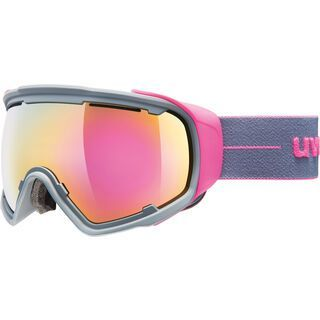 uvex Jakk sphere, grey pink mat/Lens: mirror pink - Skibrille