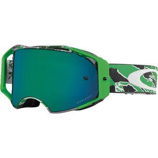 Oakley Airbrake MX, neon green camo/Lens: prizm mx jade - MX Brille