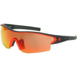 Scott Leap Sunglasses + Wechselscheibe, black matt/neon red/Lens: red chrome - Sportbrille