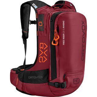 Ortovox Free Rider 20 S mit Avabag-Unit, ohne Kartusche, dark blood - Lawinenrucksack