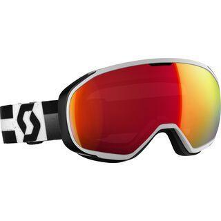 Scott Fix, white black/Lens: amplifier red chrome - Skibrille