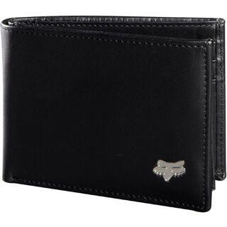 Fox Bi Fold Leather Wallet, black - Geldbörse
