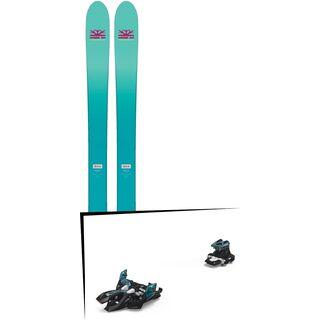 Set: DPS Skis Nina F99 Foundation 2018 + Marker Alpinist 9 black/turquoise