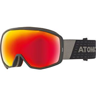 Atomic Count Stereo, black/Lens: red stereo - Skibrille