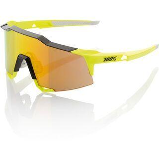 100% Speedcraft, neon yellow/Lens: mirror - Sportbrille