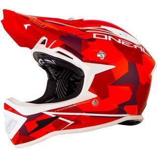 ONeal Warp Fidlock Helmet Edgy Camo, red - Fahrradhelm