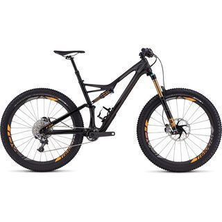 Specialized S-Works Stumpjumper FSR 6Fattie 2016, carbon/charcoal/orange - Mountainbike