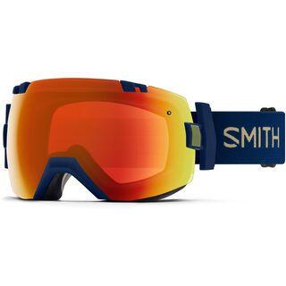 Smith I/OX inkl. Wechselscheibe, navy camo split/Lens: everyday red mirror chromapop - Skibrille