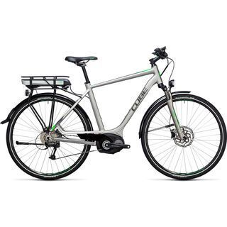Cube Touring Hybrid ONE 400 2017, silver´n´flashgreen - E-Bike