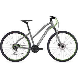 Ghost Square Cross 2.8 W AL 2018, gray/silver/neon green - Fitnessbike