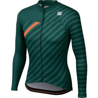 Sportful Bodyfit Team Winter Jersey, sea moss/green/orange - Radtrikot