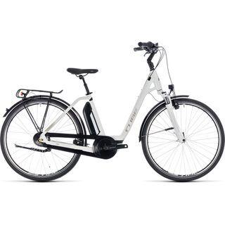 Cube Town Hybrid ONE 500 Easy Entry 2018, white´n´silver - E-Bike