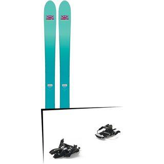 Set: DPS Skis Nina F99 Foundation 2018 + Marker Alpinist 9 Long Travel black/titanium