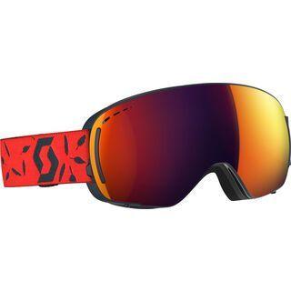 Scott LCG Compact, dark blue/red/Lens: solar red chr - Skibrille