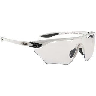 Alpina Twist Four Shield VL+, white black/Lens: varioflex+ black - Sportbrille