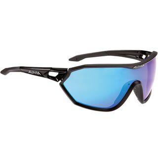 Alpina Alpina S-Way CM, black matt/Lens: blue mirror - Sportbrille