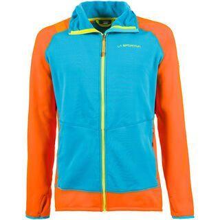 La Sportiva Iridium Hoody M, tropic blue/pumpkin - Fleecejacke