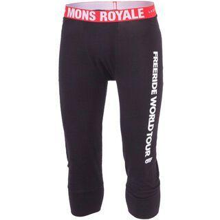 Mons Royale 3/4 Long John, black - Unterhose
